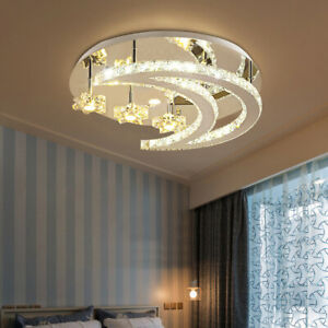 Warm LED Ceiling Light Lamp Modern Crystal Meeting Room Chandeliers Fixtures USA