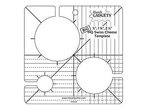 HQ Swiss Cheese Template Big Ruler for Quilting Handi Quilter 1 4 Inch Thick $34.95