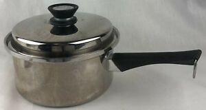 Amway Queen 18/8 Stainless Multi Ply Sauce Pan Pot with Lid 2 Quart