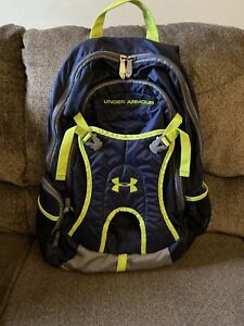 Under Armour Backpack, Navy Neon $25.00