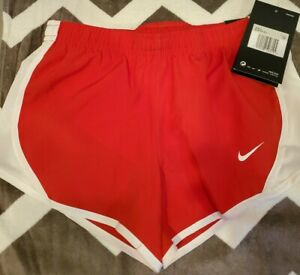 NWT Nike Dri Fit Big Girls Youth Dry Tempo Running Shorts Red, Size xs 848196 $15.00