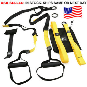 Home Gym Suspension Resistance Strength Training Strap Workout Trainer Fitness $39.99