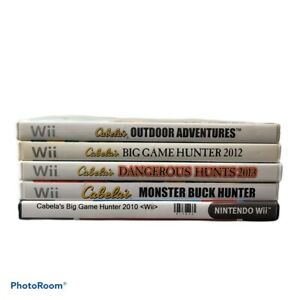 Wii Cableas Hunting Games Lot 5 Games Big Game Hunter
