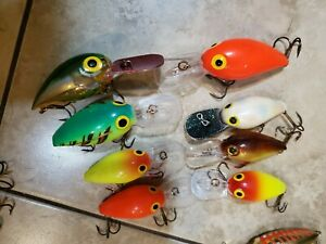 lot of 8 storm wiggle wart fishing lures
