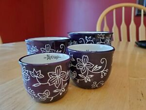 Temp tations Measuring Cups Nesting Cup Purple Floral Lace