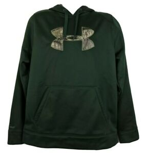 Under Armour Storm Pullover Hoodie Size XL Forest Green Camo Logo Mens NEW $57.50