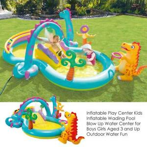 Inflatable Play Center Kids Inflatable Wading Pool Blow Up Water Center for