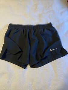 NIKE RUNNING DRI FIT LINED BLACK WOMENS SHORTS SIZE SMALL $17.99