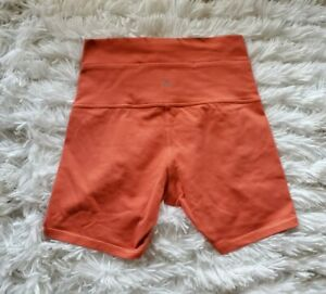 Lululemon Wunder Under Shorts 5quot; Coral Orange Sz 6 EUC $48.00