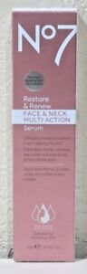 No7 Restore amp; Renew Face amp; Neck Multi Action Serum 1.69oz 50ml FREE SHIPPING