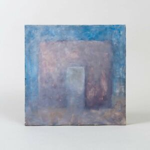 Signed John Moses Abstract Painting Soft Arch Series #1 Pastels Acrylic Art 12quot;