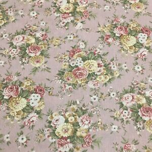 Vintage Robert Kaufman Beautiful Floral Cotton Fabric By The Half Yard $7.00