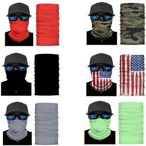 Pack of 8 Face Covering Mask Neck Gaiter Elastic Fishing and Hunting Bulk