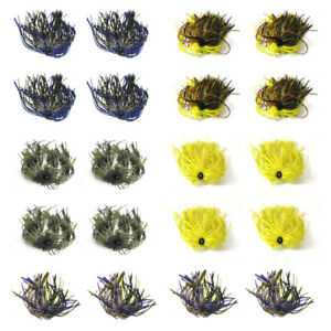 20 Bundles 50 Strands Silicone Jig Skirts DIY Replace Rubber Fishing Jig Lures