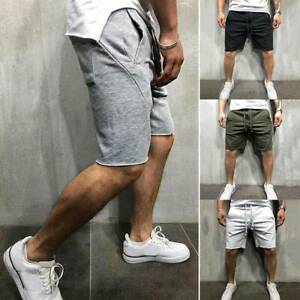 Mens Running Shorts Loose Fit Drawstring Quick Dry Training Pants With Pockets $22.88