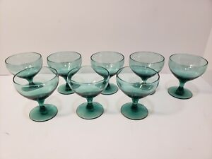 Russel Wright American Modern for Morgantown Seafoam Wine glasses 8 $125.00