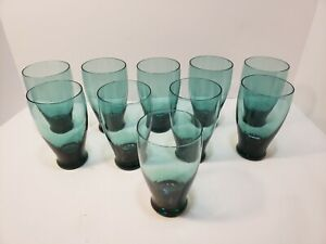 Russel Wright American Modern for Morgantown Seafoam Flat Iced Tea glasses 10 $200.00