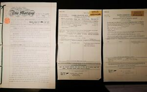 WORLD WAR 2 MORTGAGE APPLICATIONS 1938 1944 AND MORTGAGE DEED ANTIQUE ORIGINALS GBP 8.99