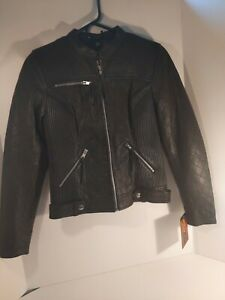Leather jacket women motorcycle Small First Classics