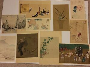 Bundle of 10 Japanese Woodblock Prints and Lithographs $59.95