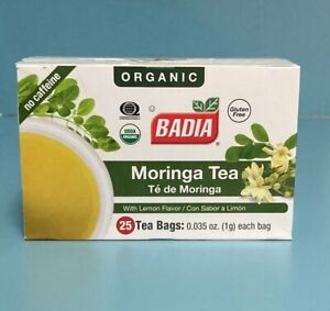 Badia Moringa Tea With Lemon Flavor 25 Tea Bags. Free Shipping