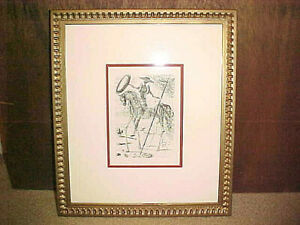 Salvador Dali Don Quixote Original Etching Signed in Plate COA Eval. Rect $999.99
