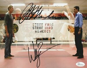 William Zabka amp; Ralph Macchio Autograph 8x10 Cobra Kai The Karate Kid Signed JSA $169.99