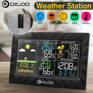 Digital In Outdoor Weather Station Alarm Clock Calendar Forecast Thermometer US $37.27