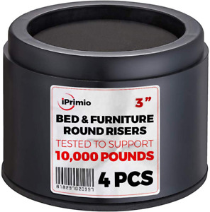 """Iprimio Bed And Furniture Risers – Round Elevator Up To 3"""" Lifts Up To 1000"""