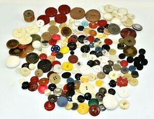 Vintage Old Sewing Crafts Buttons Mixed Lot Huge Various Sizes amp; Holes Plastic $49.99