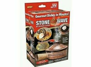 """Stone Wave Microwave Cooker Factory Box Stonewave Gourmet Cooker 4"""" 11oz"""