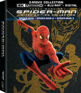 Spider man Limited Edition 3 Movie Collection 4K Ultra HD Blu ray Digital $34.49