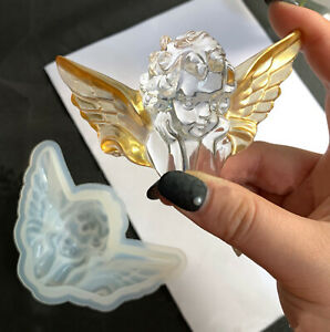 Big Cupid Guardian Angel Silicone Molds for Jewelry Plaster UV Resin Epoxy Mold