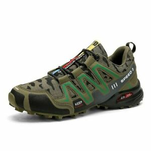 Camouflage Men Hiking Shoes Outdoor Trekking Sneaker Sports Speed3 Running Shoes