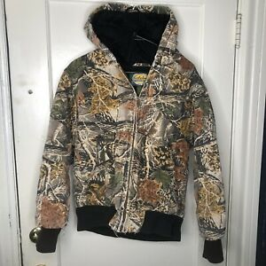 Cabelas Men's Camouflage Heavy Lined Outdoor Jacket Small Regular