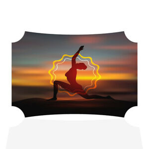Home Decor Wall Sign Yoga Pose Silhoutte Sunset Woman Art Picture Frame