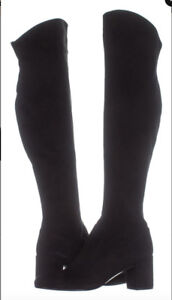 NEW Vince Blythe Black Suede Leather $695 OTK Boots Tall Boots 7 $189.99