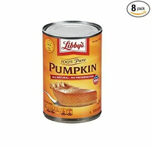 PACK OF 12 Libby#x27;s 100% Pure Pumpkin 15 o. Can. IN HAND