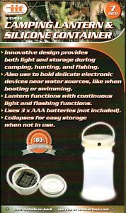 Camp Lantern w Collapsible Built In Storage Container : Camping Boating Fishing $13.67