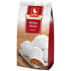 WEISS White Pfeffernusse glazed gingerbread cookies 200g FREE SHIPPING