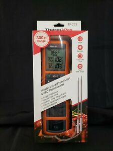 Thermo Pro Wireless Dual Probe Meat amp; BBQ Thermometer with Alarm TP 20S