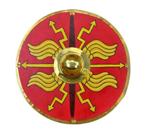 Medieval 24quot; Roman Red Armour Shield Fully Functional Designer Shield $185.00