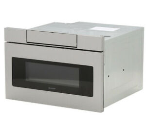Sharp 24quot; 1.2 Cu. Ft. Built In Microwave Drawer SMD2470ASY New.