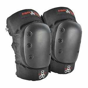 Triple Eight KP 22 Heavy Duty Skateboarding Knee Pads Pair Small 6081 Black $11.04