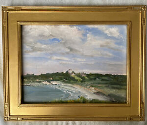 Newport RI Second Beach Sachuest St George's Seascape Oil Painting Middletown $225.00
