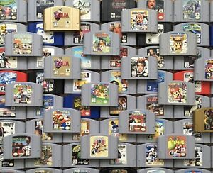 Nintendo 64 N64 Original Video Game Cartridges *Authentic* *Cleaned* *Tested* $44.95