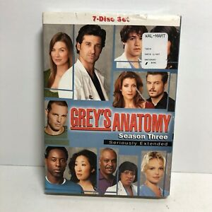 Greys Anatomy Complete Third Season DVD 2007 Seriously Extended 3 New
