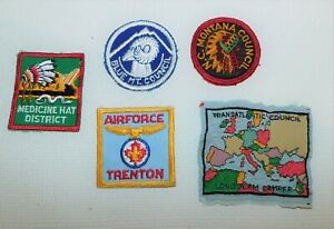 5 BSA Boy Scout Assorted lot vintage sew on patches