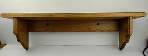 Vintage Wood Wall Shelf 29 3 4 x 6quot; Wooden Hanging Display $23.50