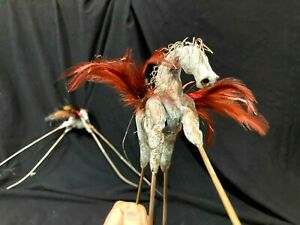 Pair of Modern Winged Horse Sculptures flying horse mobiles $65.00